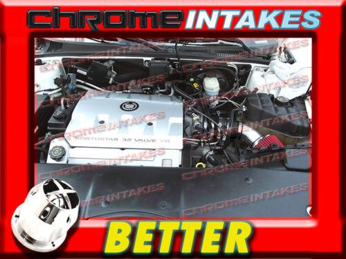 CF BLACK RED 98 99 00 01 02-04 CADILLAC SEVILLE SLS//STS 4.6L V8 AIR INTAKE KIT