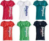 NEW Aeropostale Womens Aero Vertical Logo Graphic V Neck Tee Shirt Sz M L XL XXL