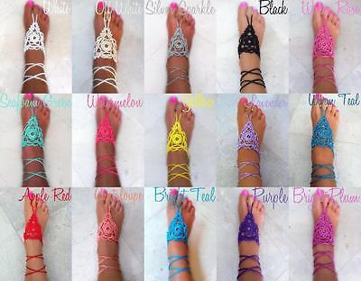 Barefoot Crochet Sandals Bohemian Hand-made Beach Sandals