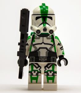 Lego-Star-Wars-Custom-CLONE-TROOPER-COMMANDER-Deviss-vert-avec-DC-15-Bon-etat-Jetpack