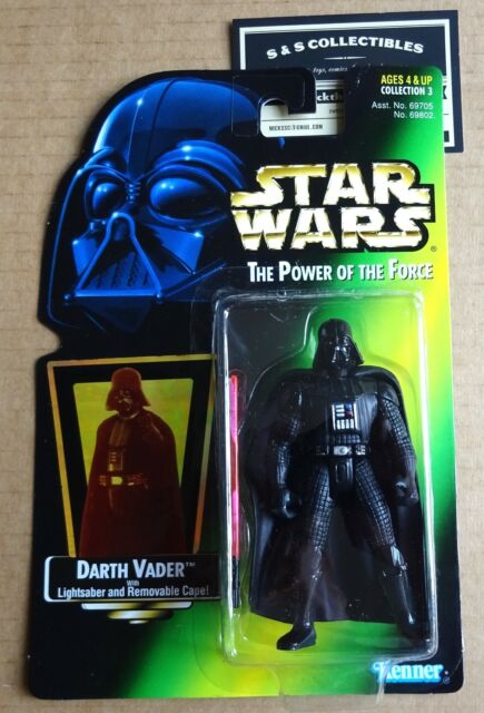 a3a52da808 Star Wars Power of The Force Green Card Darth Vader Action Figure