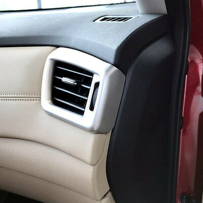 2* Matte Front Side Air Condition Vent Cover Trim For Nissan Rogue X-Trail 2017