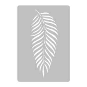 Tropical Palm Leaf 2 Beautiful And Charming Purposeful Reusable Plastic Wall Stencil Template 45x65 Or 65x95cm