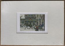 Anton Pieck Boter En Kaas Vintage Lithograph Mounted with Mat