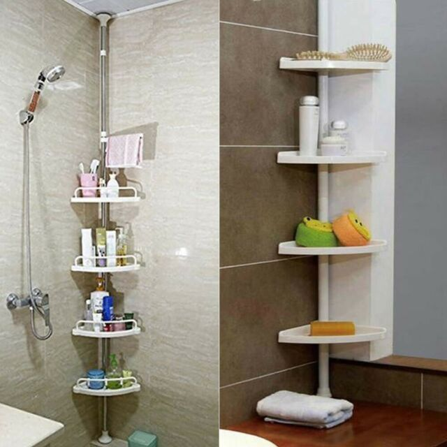 Non Rust Bathroom Telescopic Corner Shelf Storage 4 Tier Shower Caddy Organiser For Sale Online Ebay