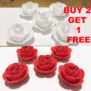 50-100-Mini-Artificial-Rose-Flower-Heads-Foam-Wedding-Party-Decor-Wholesale-3cm