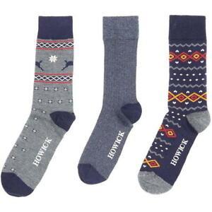 New Men Formal Socks 3 Pack Different Colours Ideal Casual Menswear Dress Socks