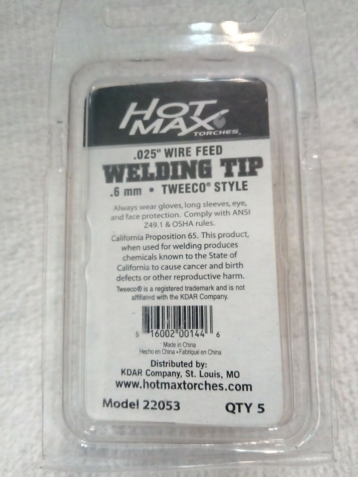 200A Hot Max 23020 .040-Inch Welder Contact Tips Tweco Style 5-Pack
