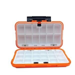Fishing Tackle Box Lure Waterproof Compartments 2 Layer ONLY Orange floats