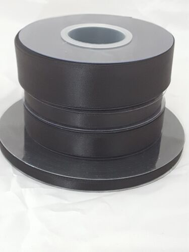 25m//50m Satin Ribbon Reels Double Sided Faced 6mm 10mm 15mm or 25mm Widths