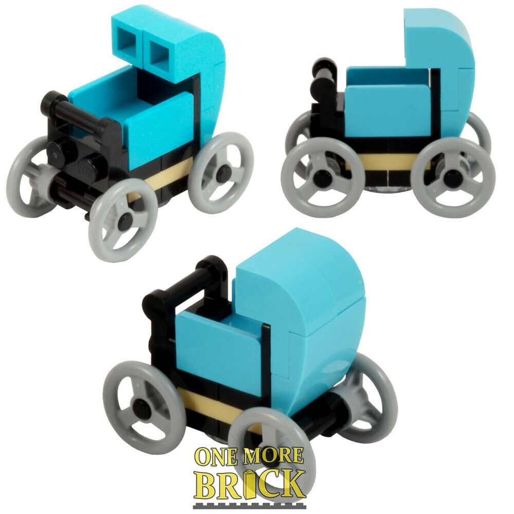 Choose colour LEGO Pram with Baby Prams Pushchair Babies NEW Pieces
