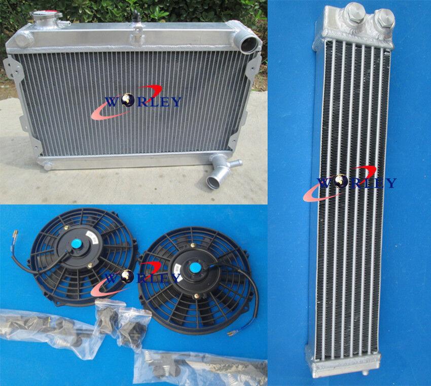 radiator /& shroud /& fans for Mazda RX7 Series 1 2 3 S1 S2 S3 SA//FB MT 1979-1985