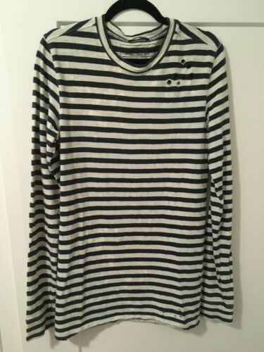 Balmain AW10 Breton Shirt Size XS