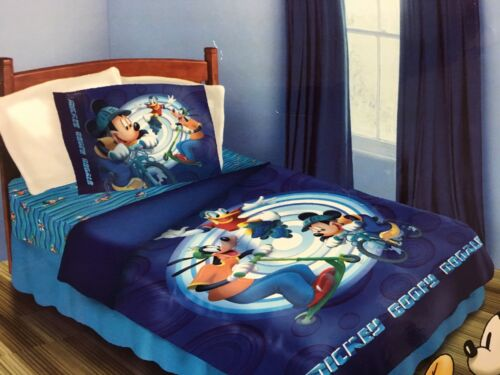 BRAND NEW OFFICIAL DISNEY MICKEY MOUSE PLUTO DONALD DUCK 4 PIECES TWIN BED SET