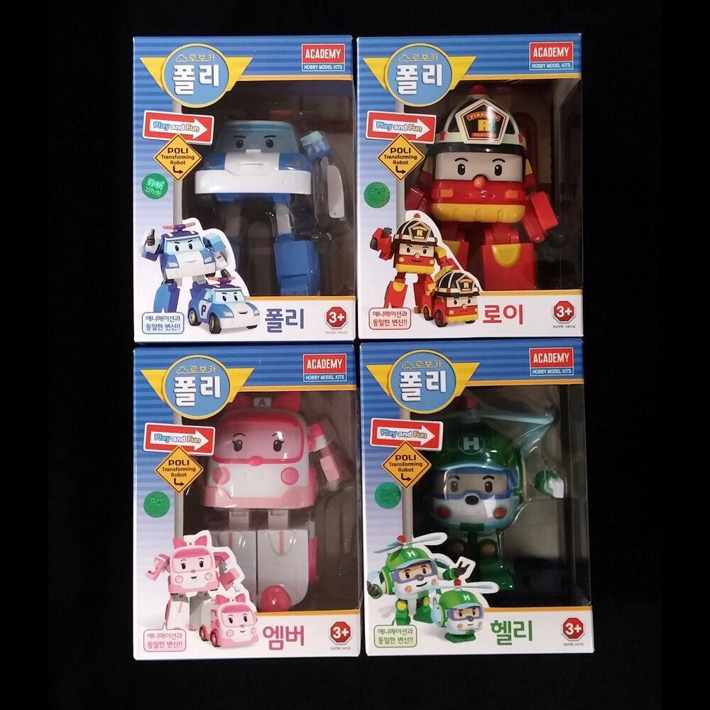 Robocar poli roy amber helly transforming figures robots - Ambre robocar poli ...