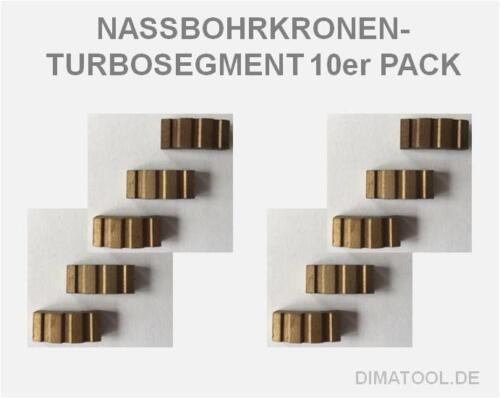 Cedima Bohrkronen Diamantsegmente TURBO Nass Segment zum Anlöten