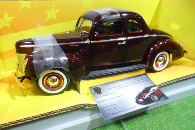 FORD DELUXE 1940 1/18 AMERICAN MUSCLE ERTL 32233 voiture miniature de collection