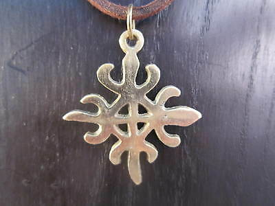 "/""Unity/"" Adinkra Symbol Necklace 1 1//4/"" #SHIP434g Funtunfunefu-Denkyemfunefu"