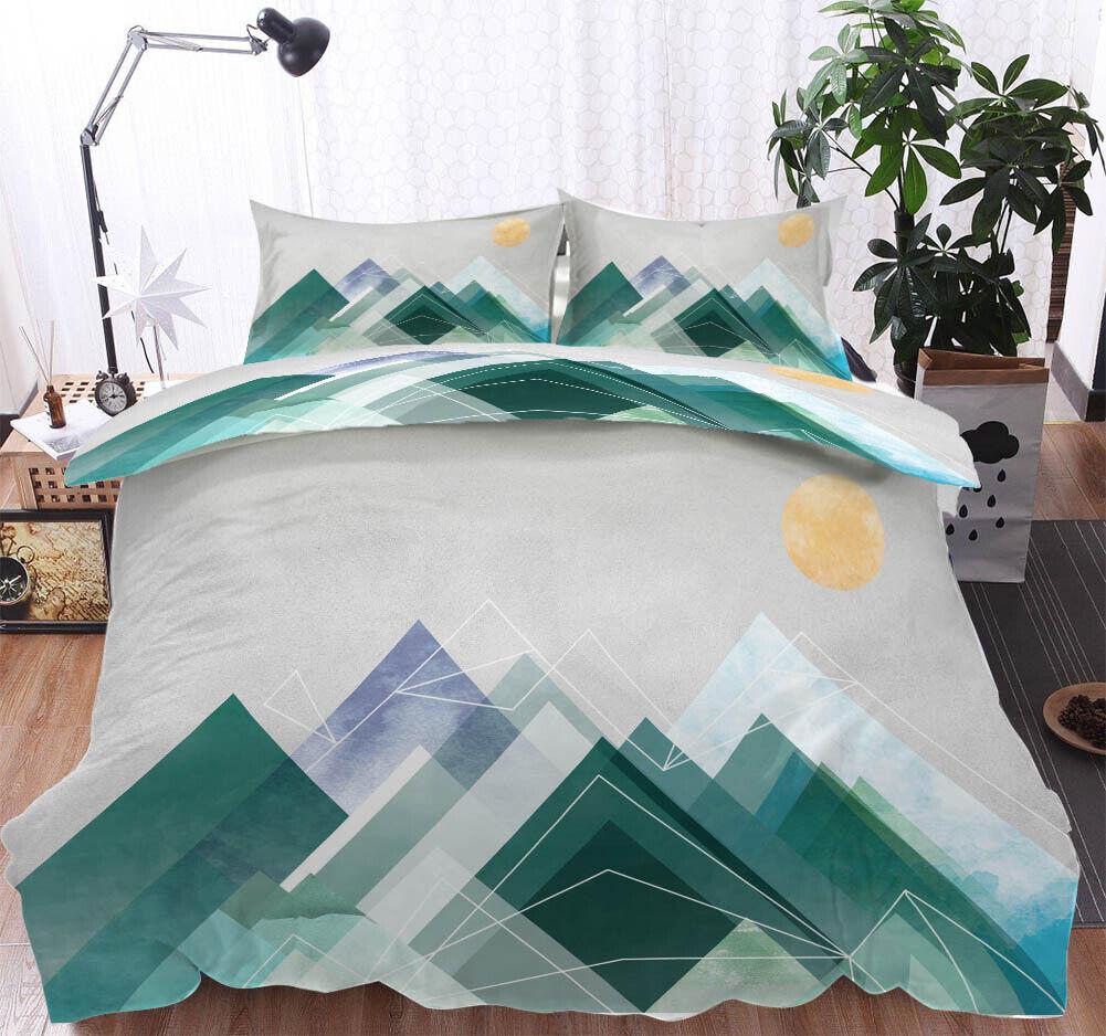 A Warm Orange Sun 3D Printing Duvet Quilt Doona Covers Pillow Case Bedding Sets