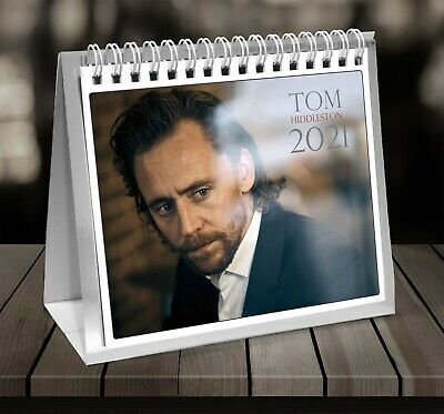 Closed Size : 42 x 29.5 cm and a Sheet of 70 Multi Colour Self Adhesive Dot Stickers iPosters Bundle 16.5 x 11.5 Inches 2 Items Tom Hiddleston 2021 Wall Calendar