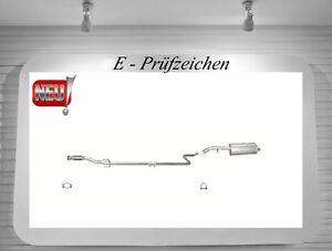 Auspuff Citroen C3 1.4 HDI + Cabrio Endschalldämpfer Mittelrohr Flexrohr
