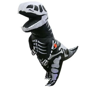 Adult-Skeleton-Inflatable-Dinosaur-Costume-T-Rex-Blow-up-Dino-Fossil-Costume