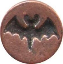 "Bat Silhouette Wax Seal Stamp (3/4"" diameter seal, wood handle) irregular"
