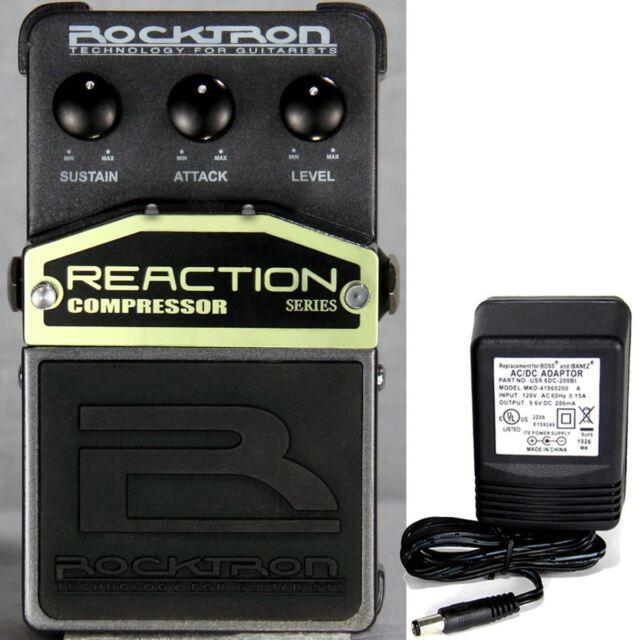 Rocktron Reaction Compressore Pedale W/9v Alimentazione Elettrica