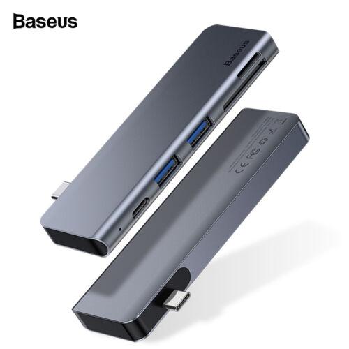 Baseus USB C HUB Adapter to USB 3.0 SD//TF Card Reader PD Charging Splitter Dock