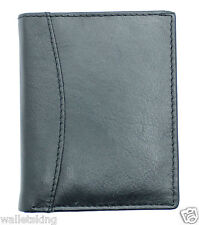 Real Soft BLACK Leather Credit Card Holder Case Wallet For Mens / Womens - 603