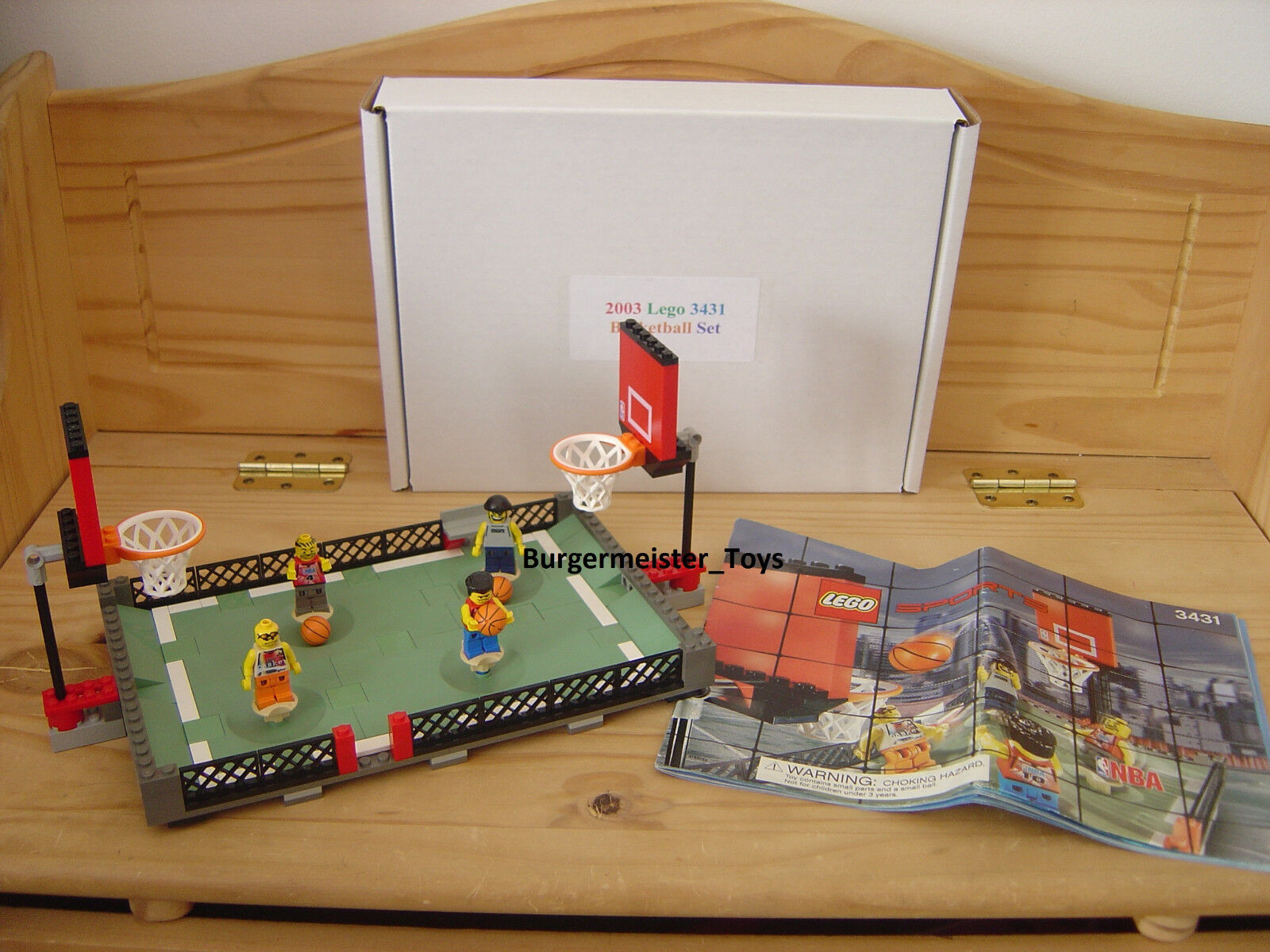 2003 Lego NBA Basketball Set 3431 Streetball 2 vs. 2 100% complete