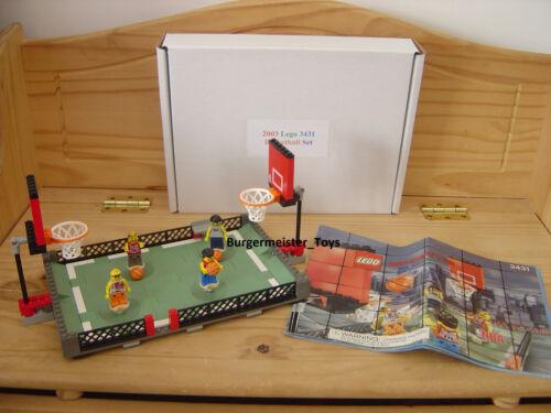 2003 Lego NBA Basketball Set 3431 Streetball 2 vs 2 100/% complete /& accurate  .