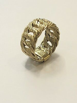 OT 925 Turkey Braided Gold Plated Sterling Silver Ring Size 8
