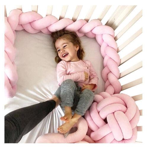 1M//3M Nestchen Kopfschutz Knotenkissen Bettschlange Baby Farbe Babynestchen DE