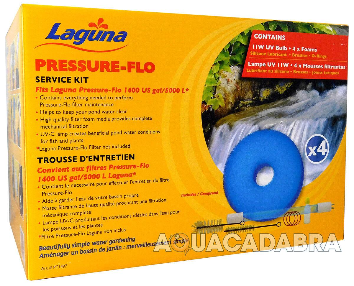 Laguna presión Flo 5000 UVC 11W Kit de servicio PT1497 Fish Pond Filter UV Koi
