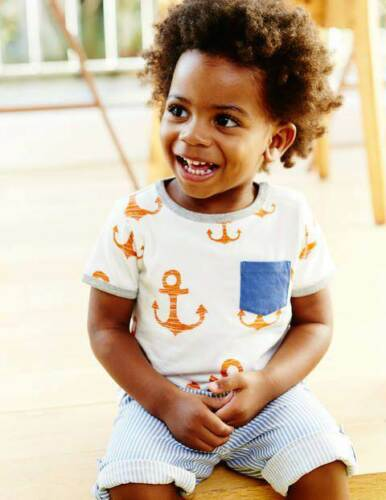 3 years Baby Boys anchor print cotton t-shirt top new ages baby 0 months