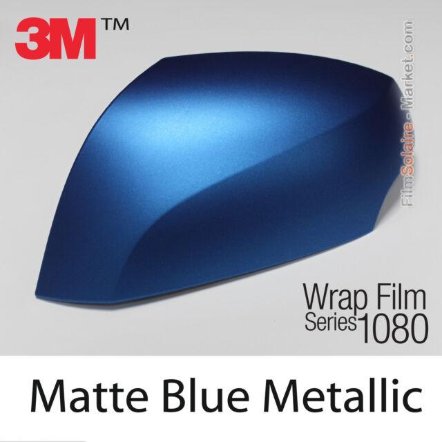 10x20cm Film Mat Blue Metal 3M 1080 M227 Vinyl COVERING New Series Wrap Film
