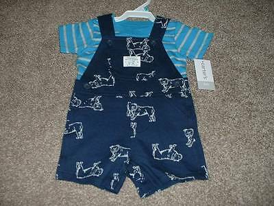 Baby Boy Seriously Handsome Shortall Set Outfit Size 6 Months 6M NWT NEW Carters