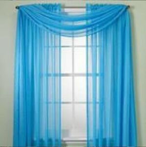 SHEER / SCARF Window Treatments Curtains Drape Valances 63 ...
