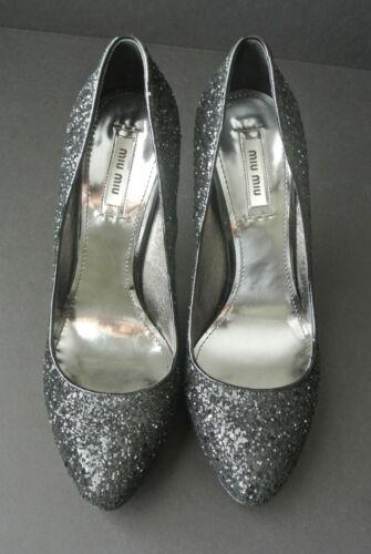 Glitter Pompen 595 5 Sz Miu finish Retail Nieuw 39 BRdxwzqS