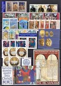 Vaticano 2001 Annata completa 38 valori, 1 foglietto, 1 libretto nuovi MNH**