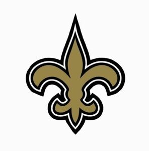 """New Orleans Saints NFL Vinyl Decal Sticker Reflective OFFICIAL NFL 3"""" Decal"""