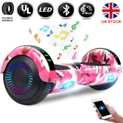"""6.5"""" Hoverboard Electric Bluetooth Self Balancing Scooter LED Lights Wheels UK"""