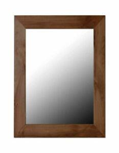 Home Basics Decorative Wall Mirror, Mahogany - DM47053