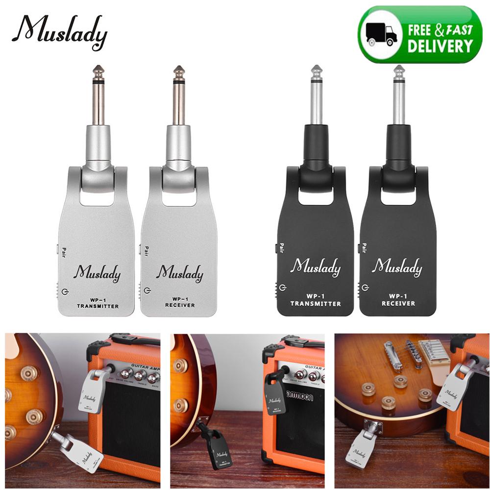 2.4G Wireless Guitar System Sender Empfänger für E-Gitarre WP-1 Silber