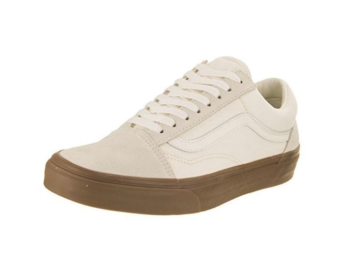 Vans Unisex Old Skool Suede Canvas shoes, White   Gum, Men SIZE 6,7,9,9.5,10 US