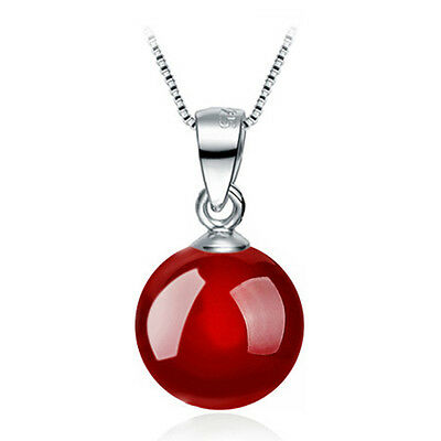 Womens Fashion Silver plated Natural Agate Necklace Pendant Jewelry