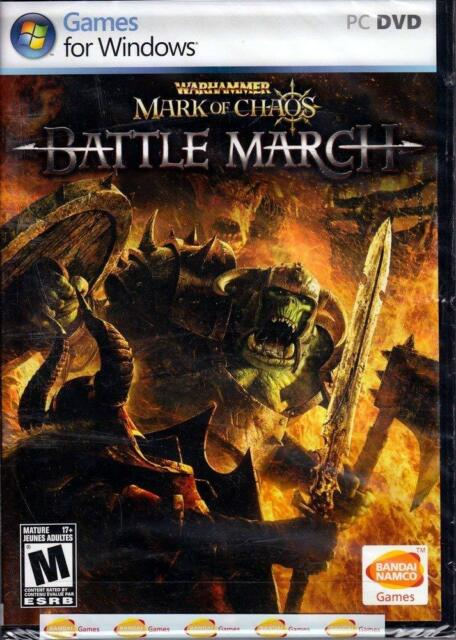NEW Warhammer Mark Of Chaos Battle March PC Video Game RTS multiplayer tactics