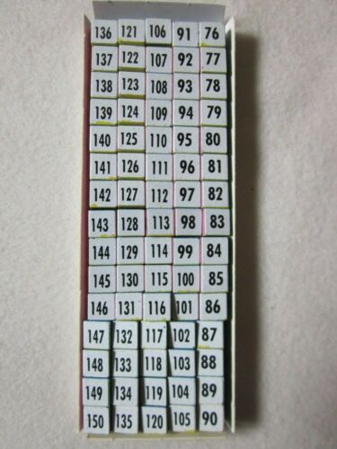 Dairymac Bray Cox Agri Magnets for Bray Cattle Breeding Calendar numbers 76-150