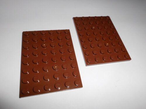 3036 in rotbraun aus 71006 75059 10223 70404 7094 10144 Lego 2 Platten 6x8